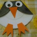 Мастер-класс «Пингвин» из картонной тарелки