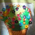 Коллективная работа «Весенний букет для мамочек». Мастер-класс