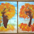 Мастер-класс «Рисуем осенние деревья в нетрадиционных техниках»