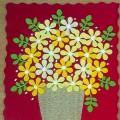 Поздравительная открытка к празднику 8 Марта «Букет цветов в вазе». Мастер-класс