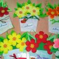 Поздравительная открытка для мам и бабушек «С 8 Марта!» своими руками. Мастер-класс