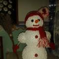 Мастер-класс «Снеговичок из пенопласта и ватных палочек»