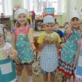 Приготовление салата «Витаминки из корзинки» старшая группа