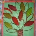 Объемная аппликация из бросового материала «Осеннее дерево»