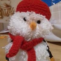 Мастер-класс по изготовлению снеговика из помпонов