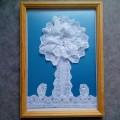 Мастер-класс: Аппликация «Кружевное дерево»— дерево из кружев