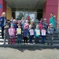 Фотоотчет «Поздравление с Днем воспитателя и дошкольных работников от нашей группы»