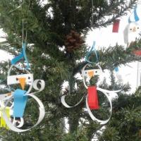 Мастер-класс по изготовлению украшения на ёлку «Снеговик из бумаги»