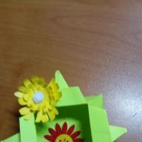 Мастер-класс «Коробочка для мелочей» в технике оригами
