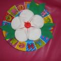 Мастер-класс поделки из ватных дисков «Подарок маме»