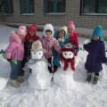 Снежные постройки на участке в детском саду. Фотоотчет