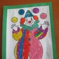 Поздравительная открытка «Веселый клоун». Детский мастер-класс.