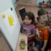 Рисунки ладошками и пальчиками «Рыбки в аквариуме»