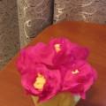 Мастер-класс «Поделка из гофрированной бумаги «Цветочки в горшочке для мамочки»