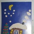 Пластилинография «Новогодняя ночь»