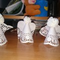 Мастер-класс поделки из ажурной салфетки «Рождественский ангелочек»