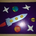 Мастер-класс «Полёт в космос». Аппликация и пластилинография в средней группе