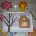Познавательное занятие по развитию речи и рисованию «Зимний пейзаж» в первой младшей группе.