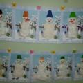 Совместная деятельность родителей и малышей «Весёлый снеговик» (фотоотчёт)
