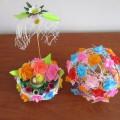 «Пасхальная корзинка и цветочный шар». Мастер-класс