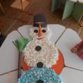 Мастер-класс: коллективная поделка из салфеток «Снеговик-великан»
