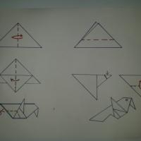 Конспект занятия по конструированию из бумаги «Синица. Оригами»