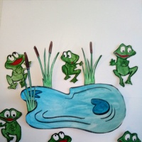 Мастер-класс по изготовлению дидактической игры «Лягушата на болоте»
