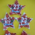 Подарок папам «Звезда-магнит» на 23 февраля. Первая младшая группа.