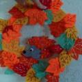 Мастер-класс «Осенний венок из фетра»