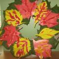 Мастер-класс по изготовлению осенних листьев из цветного картона с элементами солёного теста