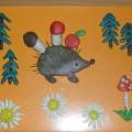 Картина в технике пластилинография «Осень в лесу»