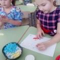 Коллективная композиция в технике мятых салфеток «Весеннее вдохновение» детей старшей группы «Солнышко».