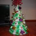 Мастер-класс «Новогодняя елочка из атласных лент»