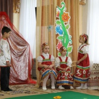 Фотоотчёт драматизации сказки Аксакова «Аленький цветочек» с использованием классической музыки
