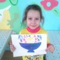 Рисование в технике оттиска фруктами «Корзина с фруктами»