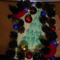 Новогодняя открытка «Снегири»