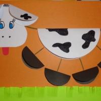 Мастер-класс по аппликации для детей старшего дошкольного возраста «Коровка»