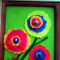 Мастер-класс по изготовлению настенного панно из фетра к 8 Марта «Цветы для мамочки»