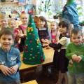 Коллективная работа в детском саду «Ёлка»