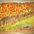 Мастер-класс изготовления картины «Осень в Абхазии» с помощью природного материала и шпаклевки
