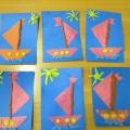 Мастер-класс по аппликации с элементами пластилинографии «По реке плывёт кораблик»