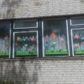 Фотоотчёт «Краски сказочного лета» (летнее украшение окон)