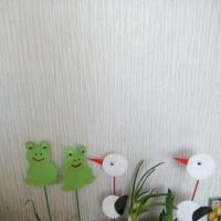 Мастер-класс по аппликации из кругов «Аистята и лягушата» для оформления огорода на окне