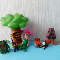 Мастер-класс по созданию макета из бросового материала «У лукоморья дуб зеленый» с воспитанниками 5–6 лет