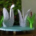 Проект по оригами «Лебеди на пруду» в средней группе детского сада