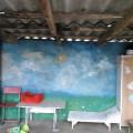 Роспись стен детской уличной беседки во второй младшей группе «Пчёлки»