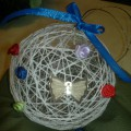 Мастер-класс «Елочная игрушка из ниток»