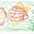 Золотая рыбка. Рисование в подготовительной группе