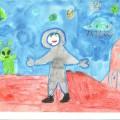Занятие по рисованию в подготовительной группе на тему «Космос»