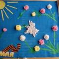 Коллективная работа с детьми подготовительной группы к 9 Мая
